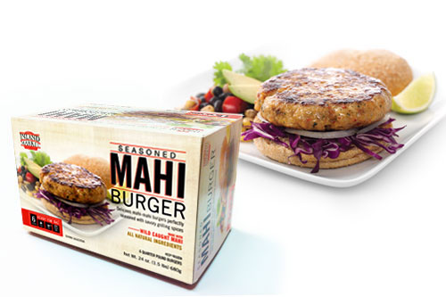 Inland Market Seasoned Mahi Burger Packaging