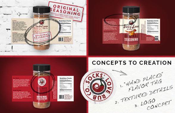food packaging design spice rub