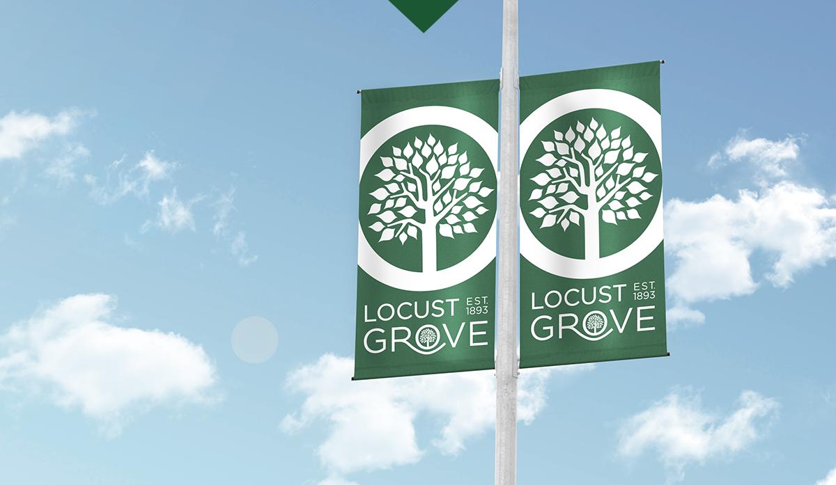 Locust Grove pole banners