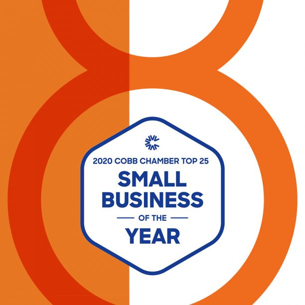 Award winning id8 2020 Cobb Chamber Top 25 Small Business of the Year