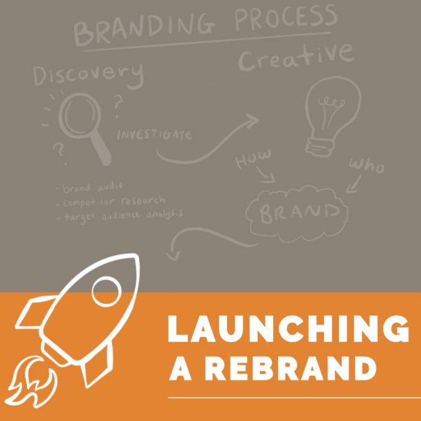 Illustrated Launching a Rebrand with Rocket