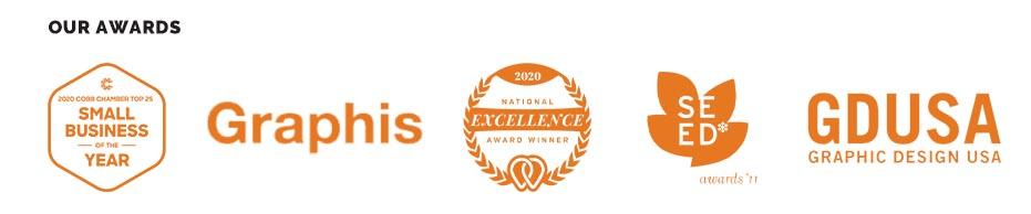 logos of awards that id8 has won