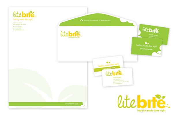 Branding materials for Litebite.