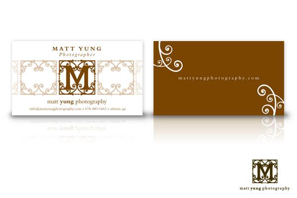 Branding materials for Matt Yung Photography.