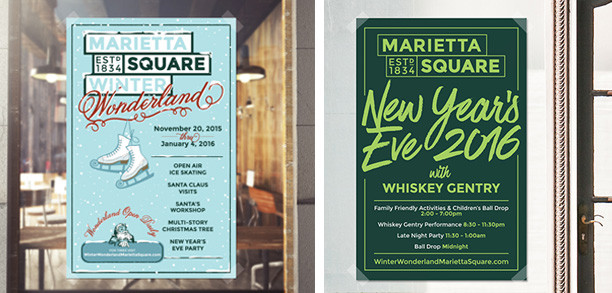 The Marietta Square will bring in Winter Wonderland and New Year's Eve festivities this year.