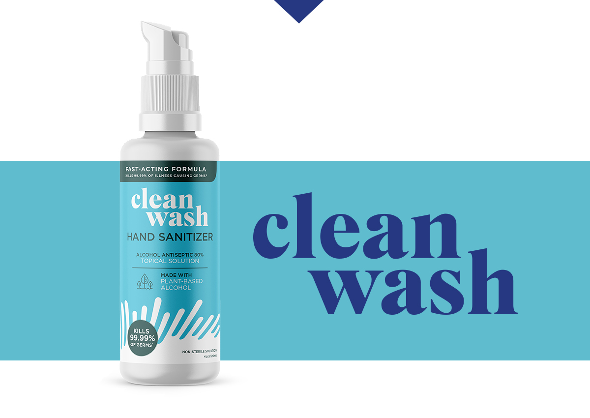 id8 design of CleanWash package