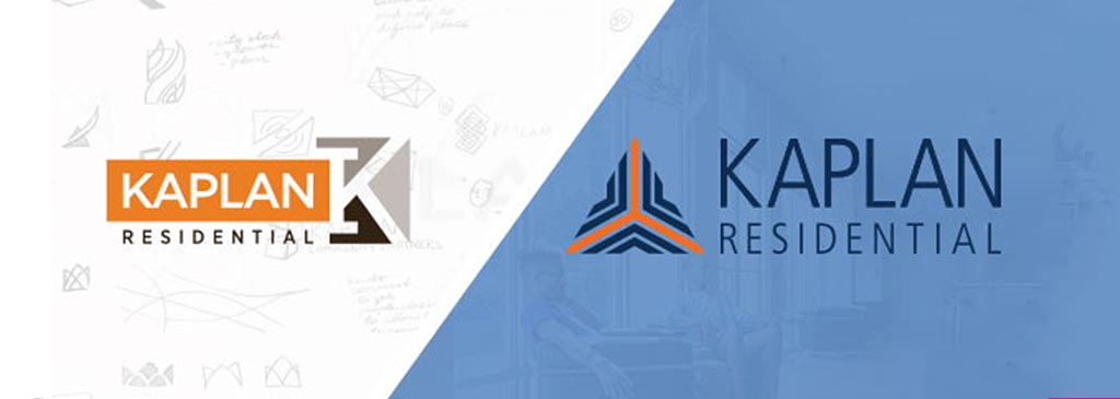 Logo Design for Kaplan Residential from Sketches to Final New Logo