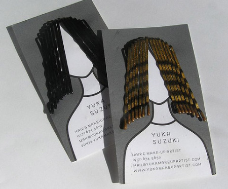 clever business card hairstylist Award Winning Graphic